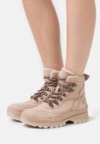 Tamaris - Lace-up ankle boots - cream - 0