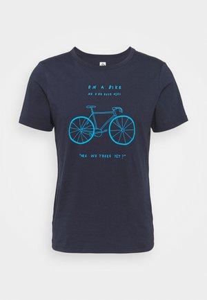TUUR EEN MEN BIKE - T-Shirt print - peacoat