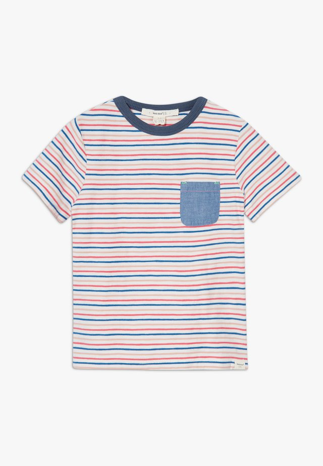 ALBIE STRIPED TEE - T-shirts med print - beige/red/blue