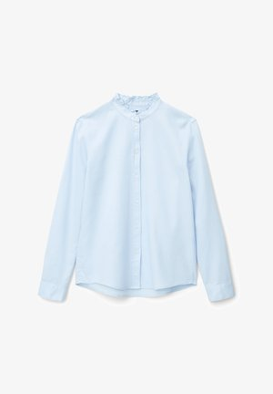 Button-down blouse - breezy blue