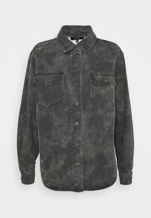 TIE DYE CAMO - Camisa - black