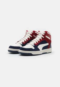 Puma - REBOUND LAYUP UNISEX - Sneakers hoog - peacoat/vaporous gray/red dahlia - 1