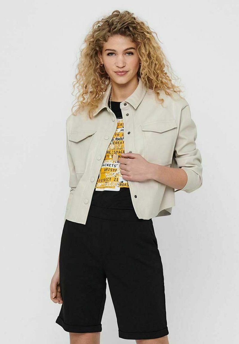 ONLY - Faux leather jacket - pumice stone