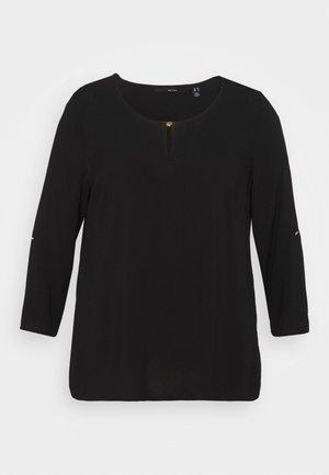 VMNADS 3/4 FOLD-UP TOP - Blouse - black