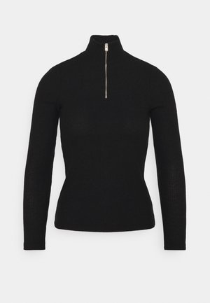VMTAMMI ZIP BLOUSE - Topper langermet - black