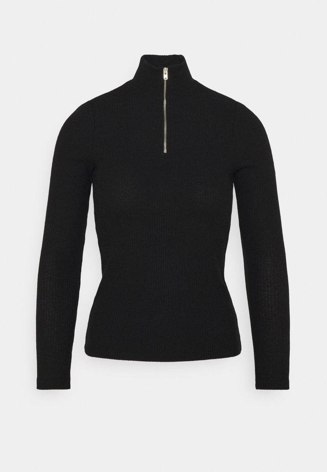 VMTAMMI ZIP BLOUSE - Långärmad tröja - black