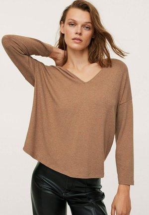 T-shirt à manches longues - karamel