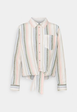 ONLLECEY STACY STRIPE KNOT  - Button-down blouse - desert sage/cloud dancer