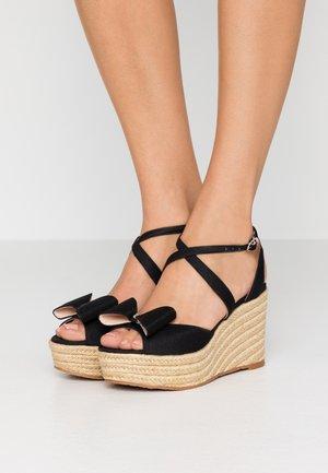 THELMA - Sandály na vysokém podpatku - black