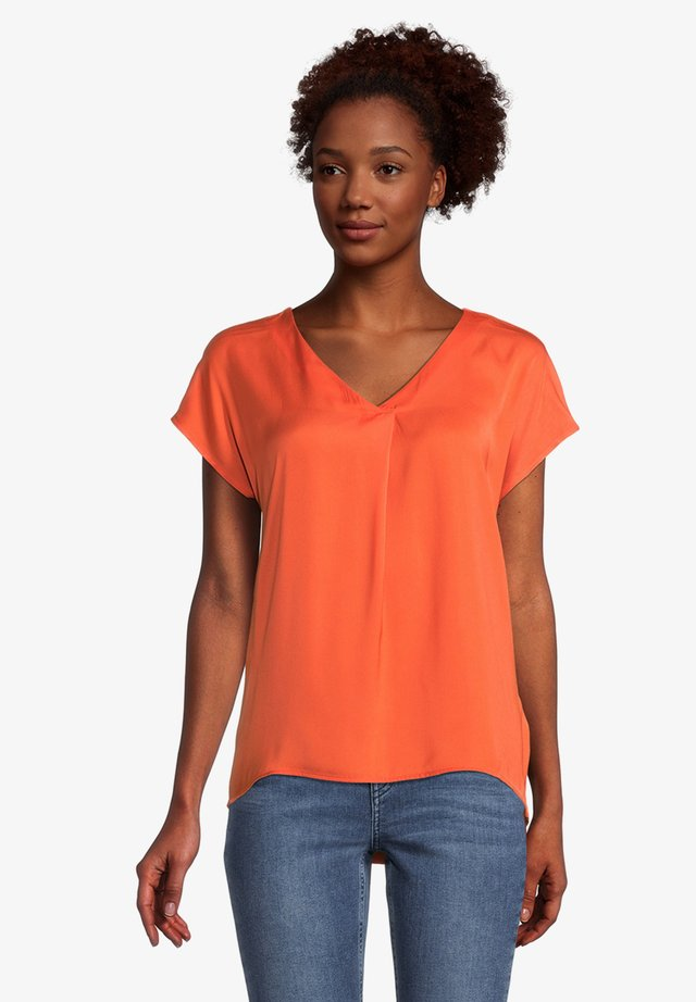 T-shirt basic - papaya orange