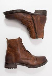 Jack & Jones - JFWRUSSEL - Lace-up ankle boots - cognac - 1