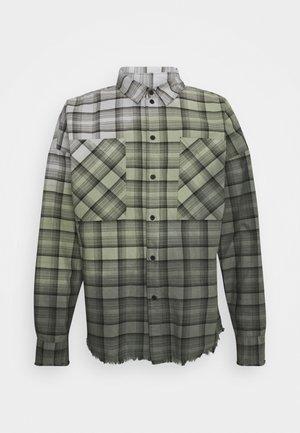 RAPHAEL - Camisa - black/mosstone/concrete grey