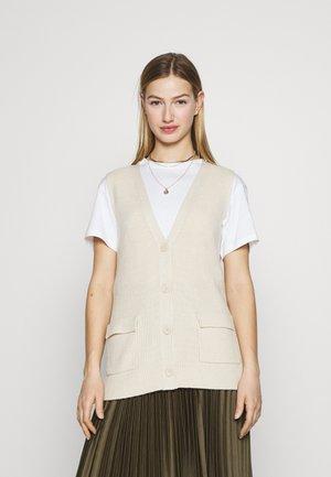 ONLFLORELLE - Waistcoat - whitecap gray melange