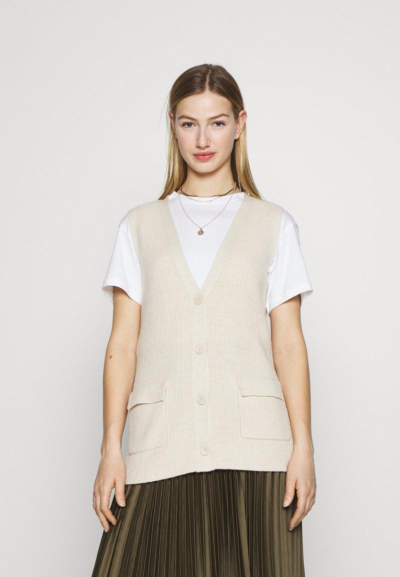 ONLY - ONLFLORELLE - Waistcoat - whitecap gray melange