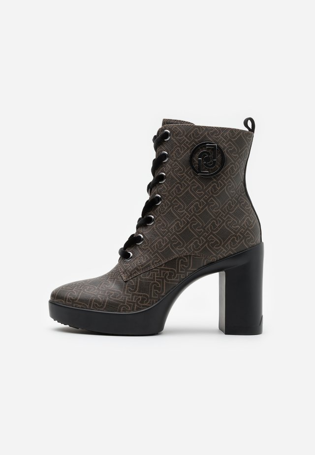 NOW  - High heeled ankle boots - brown