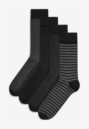 FOUR PACK - Socks - black