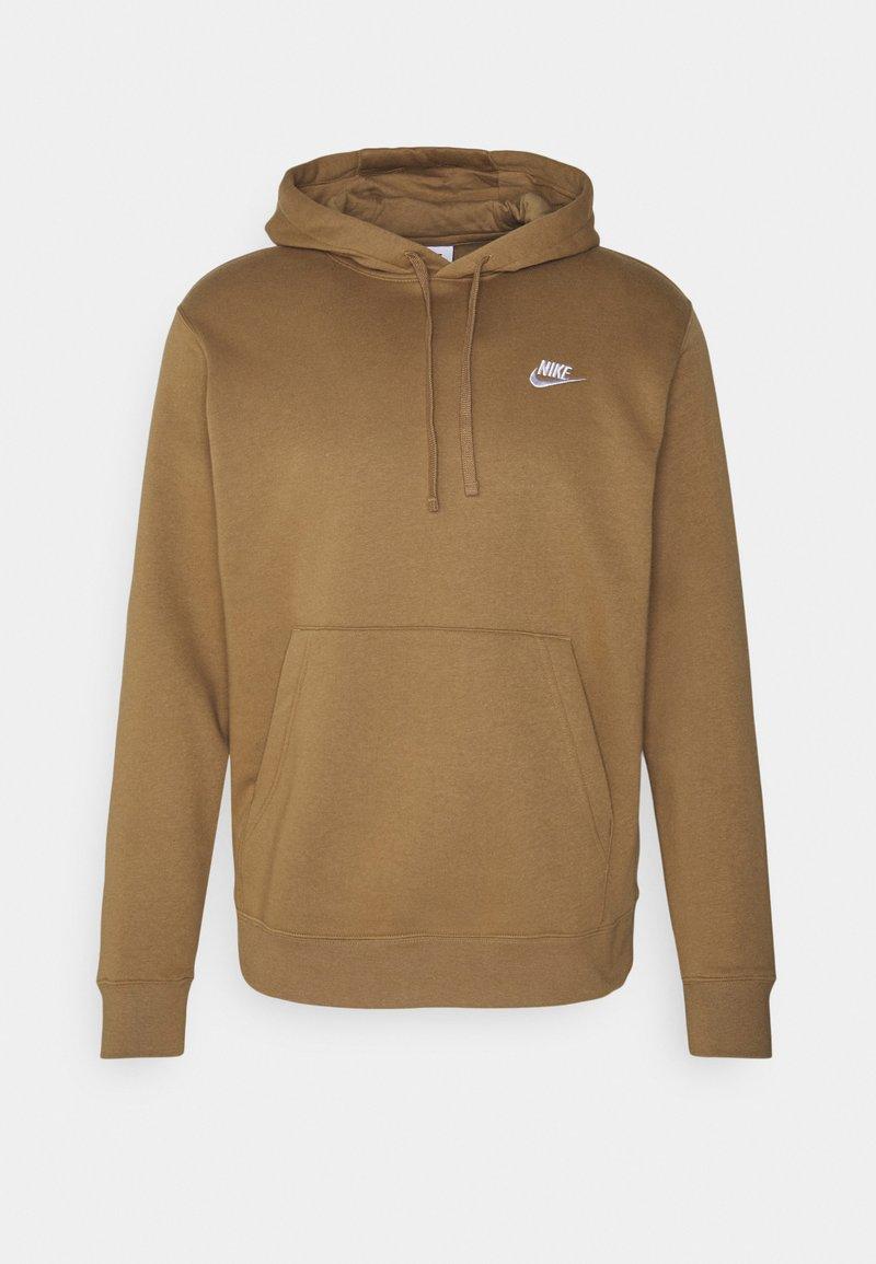 Nike Sportswear - CLUB HOODIE - Hættetrøjer - driftwood/white