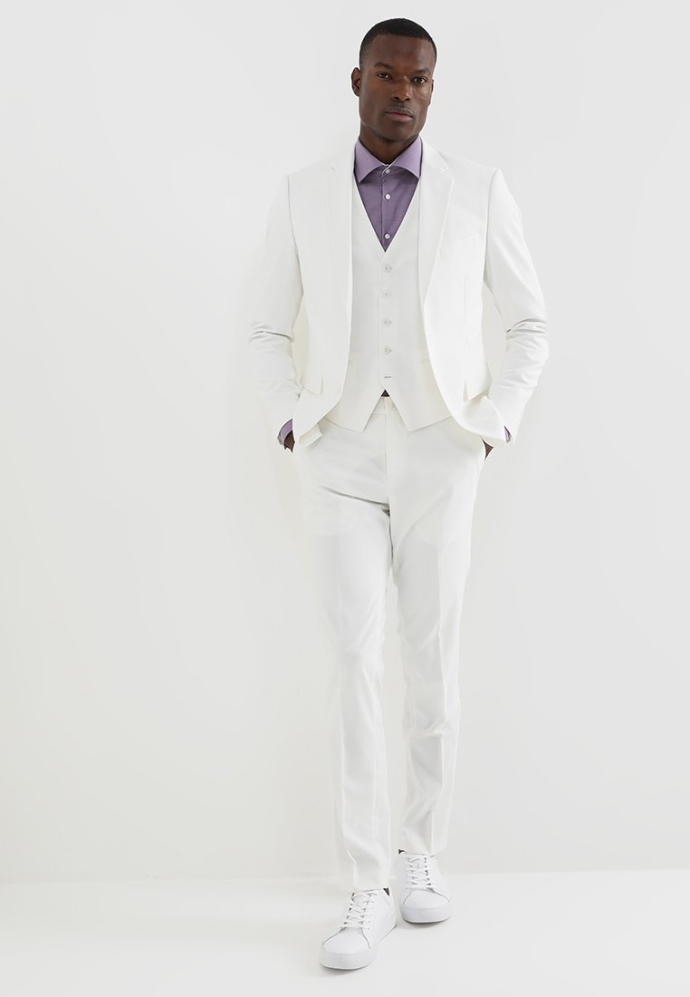 Lindbergh - PLAIN MENS SUIT - Oblek - white