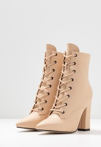 RAID - RAVEN - High heeled ankle boots - beige - 4