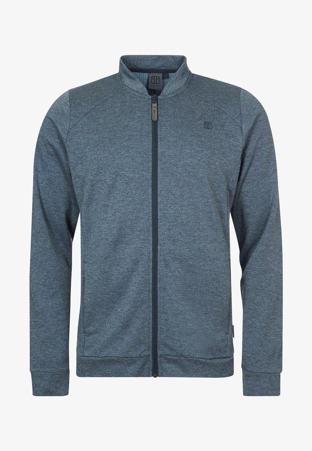 Zip-up hoodie - bluemelange