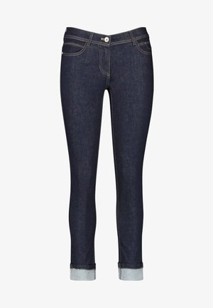 MIT SAUMAUFSCHLAG  - Slim fit jeans - blue denim