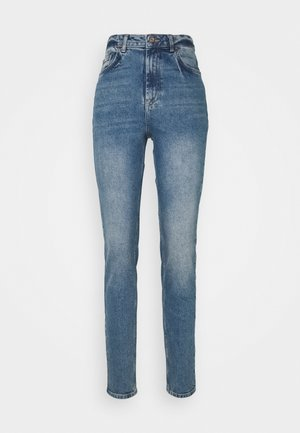 PCLEAH MOM NOOS TAL - Jean slim - medium blue denim
