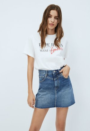 ANETTE - Camiseta estampada - off-white
