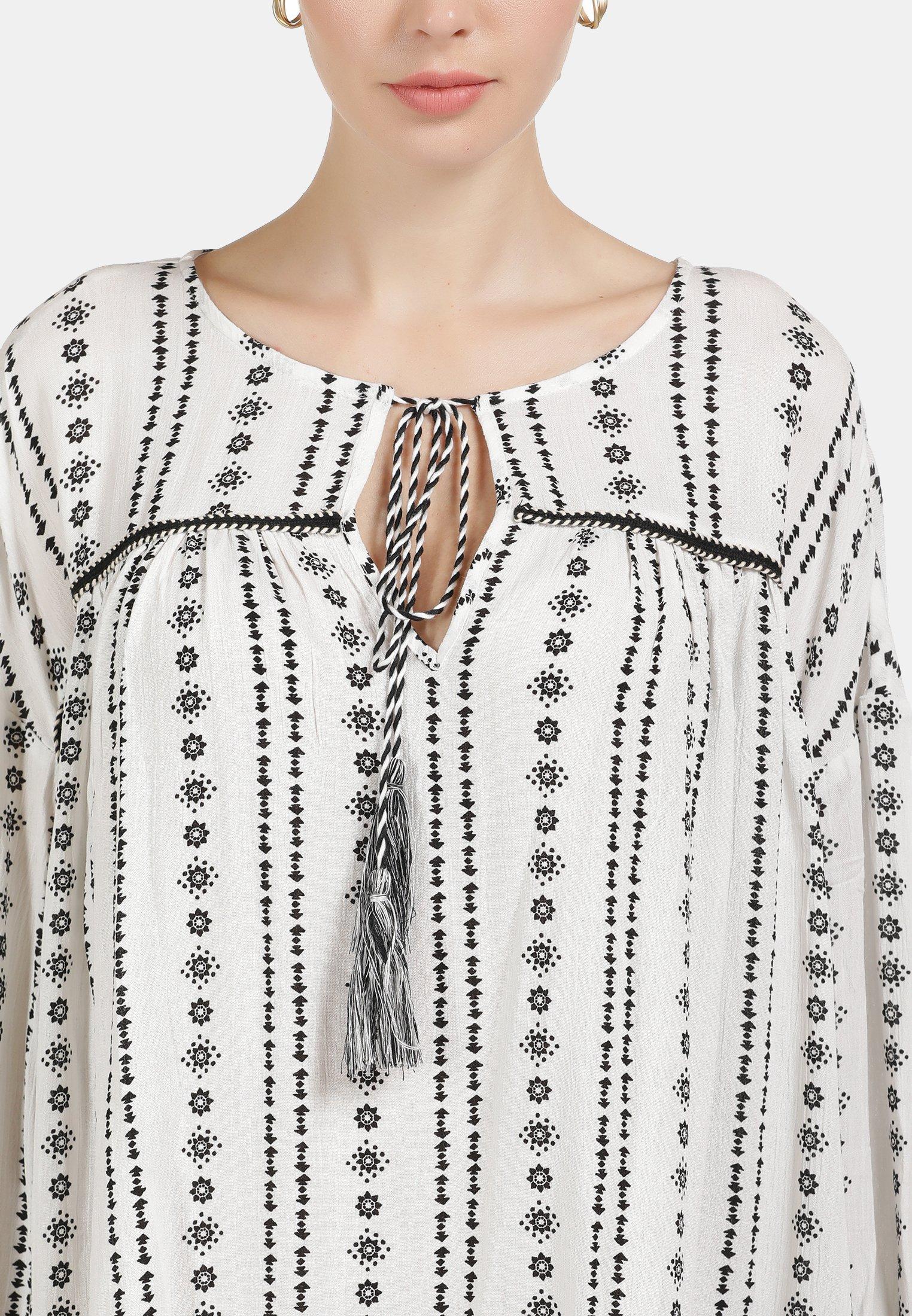 DreiMaster Blusenkleid weiss/weiß