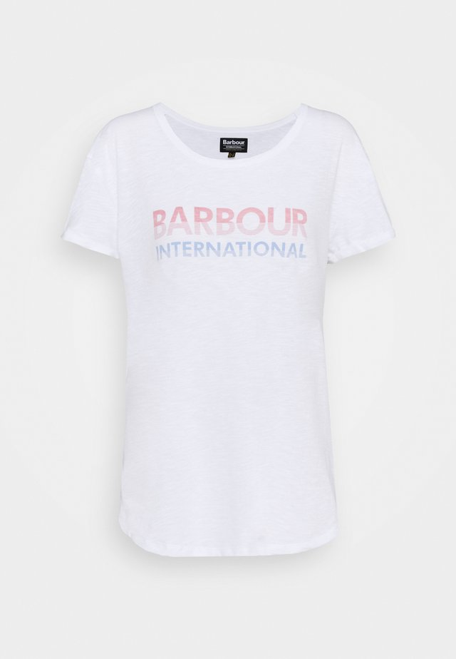 SPITFIRE TEE - Print T-shirt - white