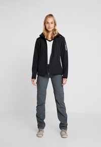 CMP - WOMAN JACKET ZIP HOOD - Softshelljakke - nero - 1