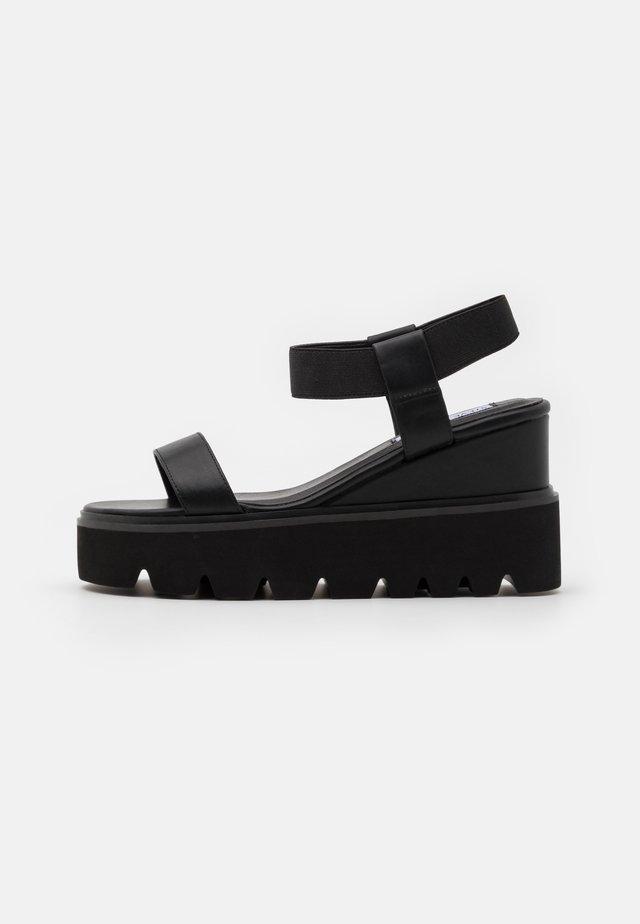 LAURY - Sandály na vysokém podpatku - black