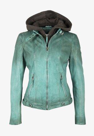 CASCHA LAMOV - Leather jacket - türkis