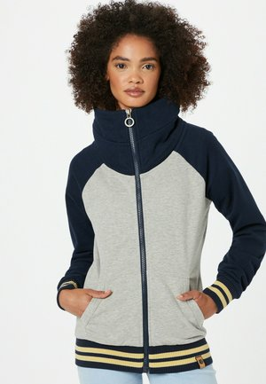 Sweater met rits - weiß