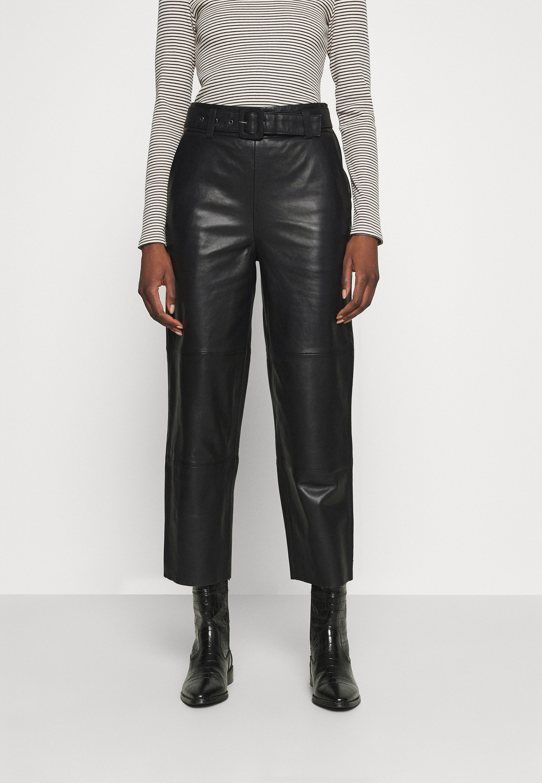 Women STORIA PANTS - Leather trousers