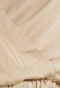 NA-KD - OVERLAP FRONT BLOUSE - Blouse - beige - 4
