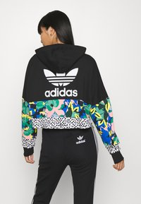 adidas Originals - CROPPED HOODIE - Huppari - black - 2