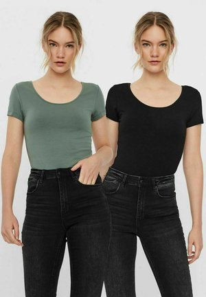 2ER-PACK - Basic T-shirt - mottled green