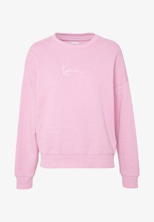 SIGNATURE CREW - Sweatshirt - pink/white