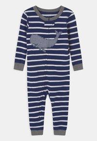 Carter's - WHALE FOOTLESS - Pyjamas - dark blue - 0