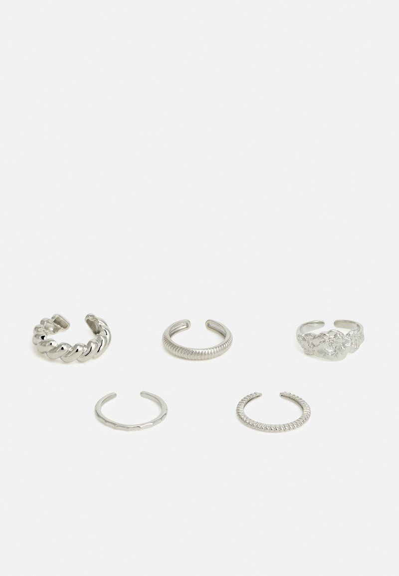 Pieces - PCKATRINA 5 PACK - Ring - silver-coloured