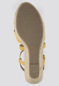 TOM TAILOR - Sandalen met hoge hak - yellow - 4