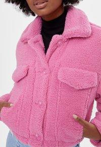 Bershka - Fleece jacket - pink - 3