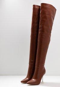 BEBO - DELTA - Boots med høye hæler - tan - 4