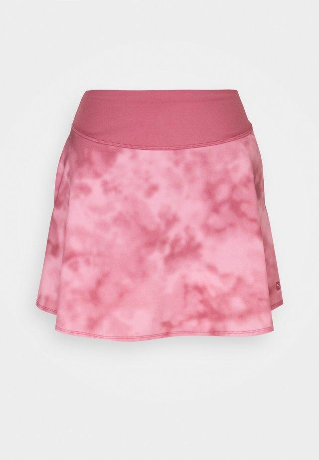 TIE DYE SKIRT - Sports skirt - rose wine