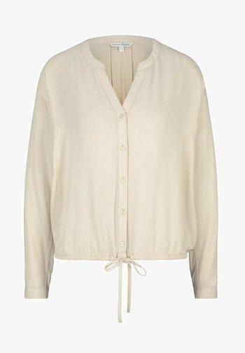 Blouse - cozy beige melange