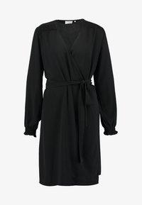 Kaffe - BLAKE WRAP DRESS - Day dress - black deep - 6