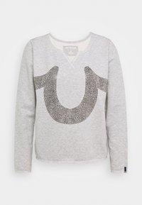 True Religion - CREW HORSESHOE - Sweatshirt - grey - 0