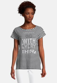 Cartoon - CASUAL MIT STREIFEN - T-shirt print - weiß/schwarz - 0