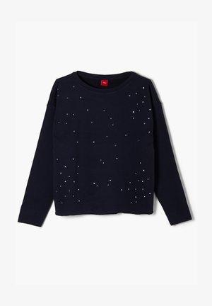 GARMENT DYE MIT SCHMUCKSTEINEN - Sweatshirt - dark blue