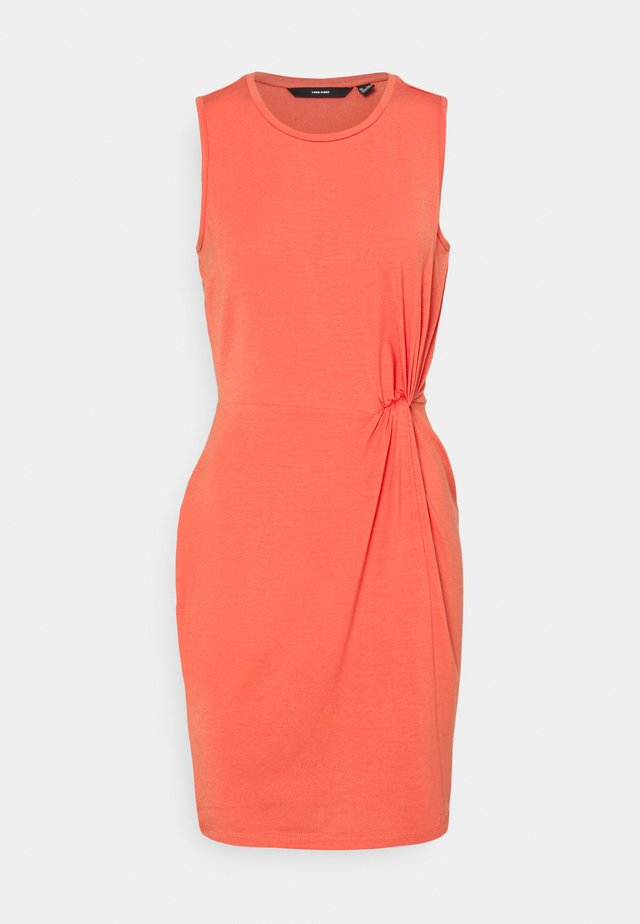 VMKIANA DRESS - Jersey dress - spiced coral